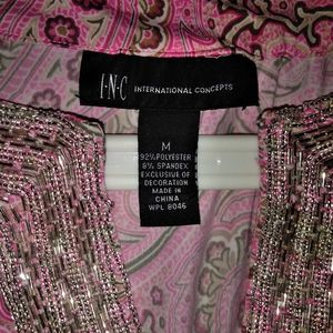 INC PINK PAISLEY DRESS SHIRT